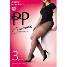 Pretty Polly Curve TIGHTS   Barely Black Sherry