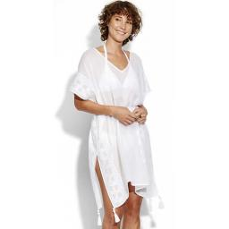 Seafolly EMBROIDERED KAFTAN    One Size White