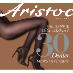 Aristoc 30 Denier OPAQUE TIGHTS Black