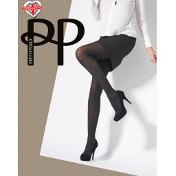 Pretty Polly Dogtooth TIGHTS   Black   SALE !!!