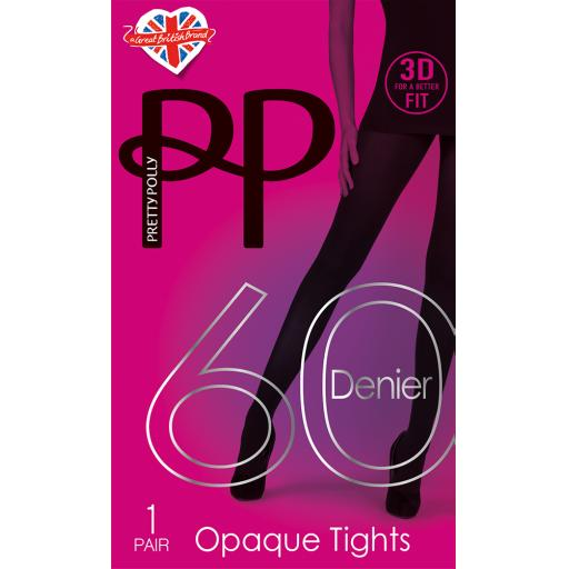 Pretty Polly 60 Denier TIGHTS Black and Navy