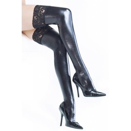 Coquette WET LOOK HOLD UPS