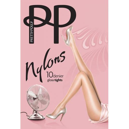 Pretty Polly NYLONS Navy 10 Denier