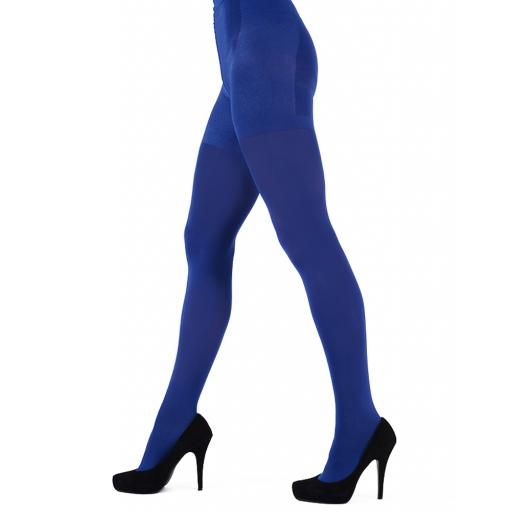 "Pretty Polly COLOURED OPAQUE TIGHTS. 60 Denier ""Girl in Green"" ""Blue Monday"" SALE !!!"