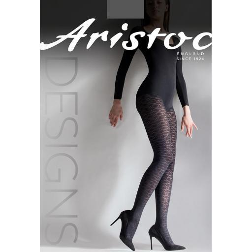 Aristoc LEAF DESIGN TIGHTS   Black   LAST SIZE M/L   SALE !!!