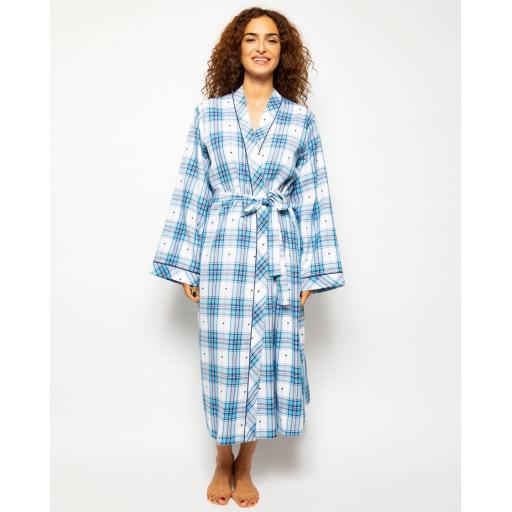 Cyberjammies ROBE Stella Check LAST SIZES 10 & 12