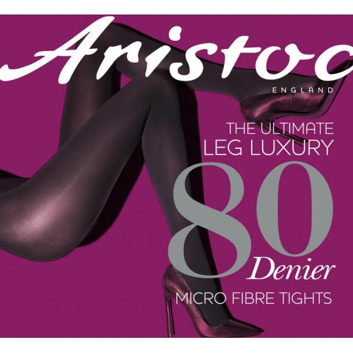 Aristoc 80 Denier OPAQUE TIGHTS Black