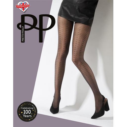 Pretty Polly DELICATE PATTERN TIGHT   One Size   SALE !!!