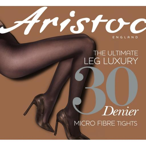 Aristoc 30 Denier OPAQUE TIGHTS Black