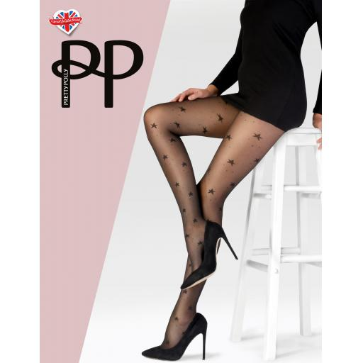 Pretty Polly TULLE STAR TIGHTS