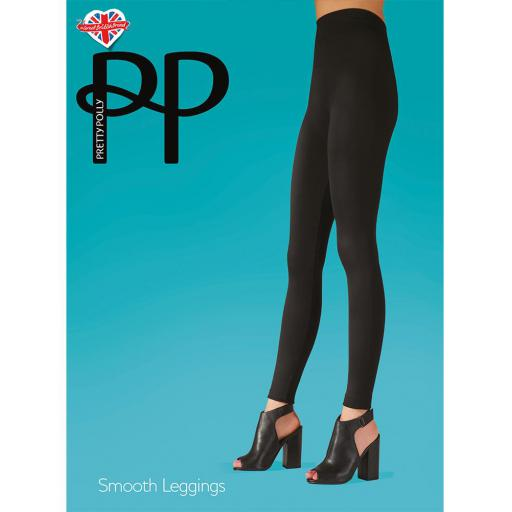 Pretty Polly Smooth LEGGINGS Black