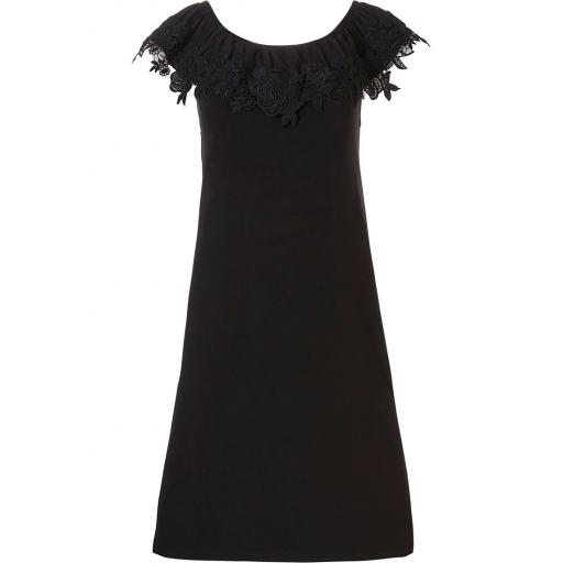 Pastunette Black Off the Shoulder Dress.jpg