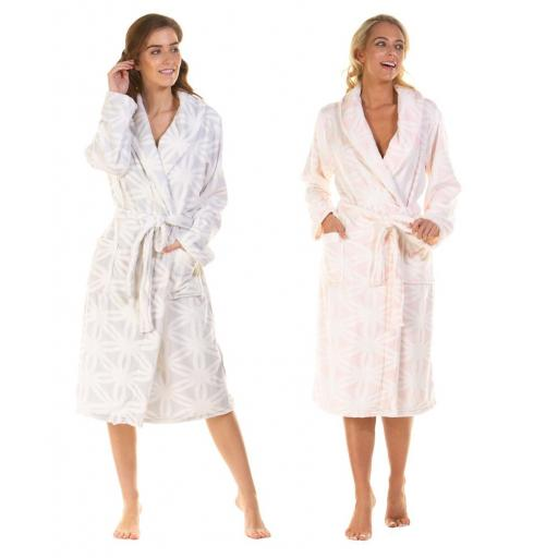 La Marquise SUPERSOFT ROBE Snowflake