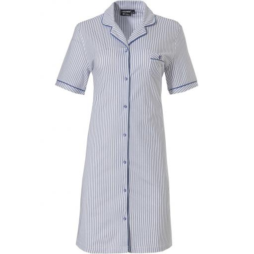 pastunette blue and white stripe short sleeve nightshirt..jpg