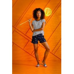 Rebelle Bees short and top on model.jpg