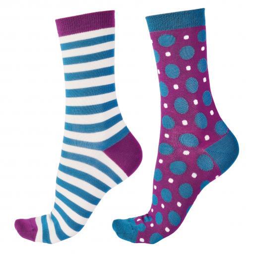 Pretty Polly BAMBOO SOCKS Spots/Stripes